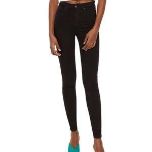 Jamie High Waist Skinny Jeans Ankle Grazer BLACK